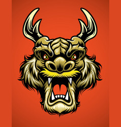Asian dragon head vector