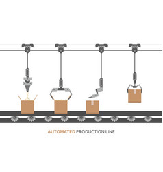 automated production line vector image