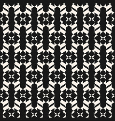 black and white curved geometric seamless pattern vector image