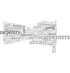 Carpentry career history vector