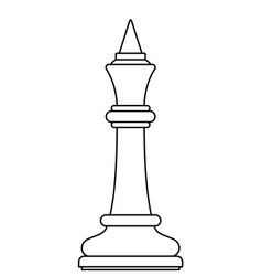 chess king contour vector image