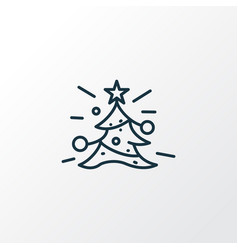 Christmas tree icon line symbol premium quality vector