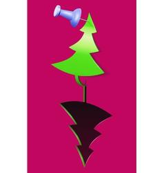 christmas tree tag vector image