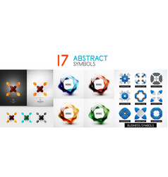 collection of color bright abstract geometric vector image vector image