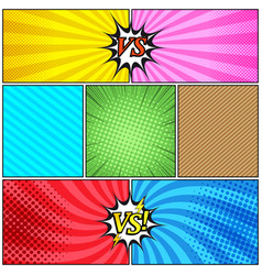 Comic book page colorful background vector