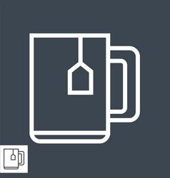 cup tea thin line icon vector image