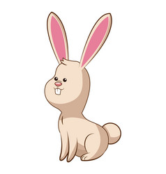 Cute rabbit wildlife image vector
