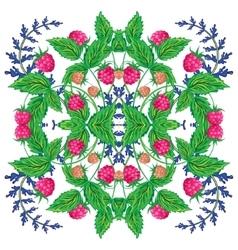 Design for square pocket shawl textile vector image