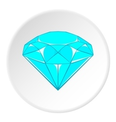 Diamond icon cartoon style vector