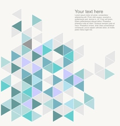 Document template with triangle print vector