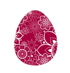 Egg With Flower Pattern vector