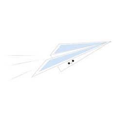 Emoji a smiling paper plane or color vector