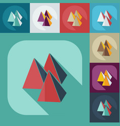 Flat modern design with shadow icons pyramid vector