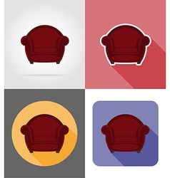 furniture flat icons 22 vector image