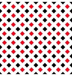 Geometric White Black Red Square Pattern vector