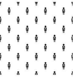 Girl boy pneumonia virus pattern seamless vector