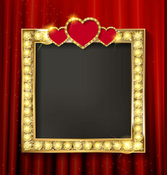 gold frame in cinematic style vector image