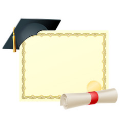 Graduate certificate background vector