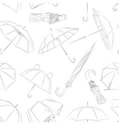 Hand drawn umbrellas pattern vector