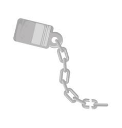 Handcuffs and chain icon vector