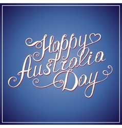 Happy Australia Day congratulation card vector