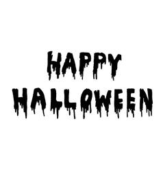 Happy Halloween handwritten vector image