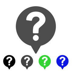 Help balloon flat icon vector