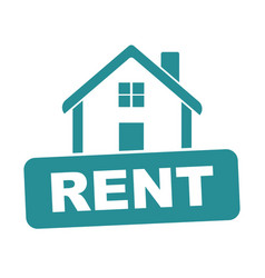 house for rent flat vector image