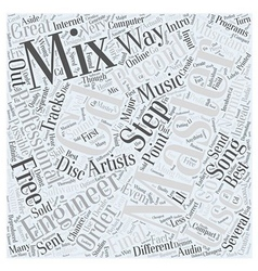 Intro to cd mastering word cloud concept vector