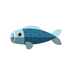 Isolated china fish decoration design vector image