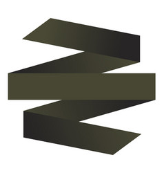 isolated ribbon ilustration vector image