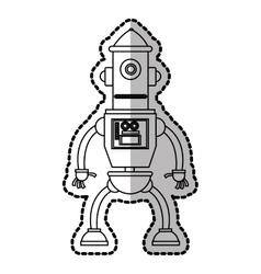 Isolated robot cartoon design vector image