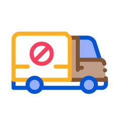 Kill truck icon outline vector