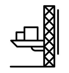 lift crane platform icon outline style vector image