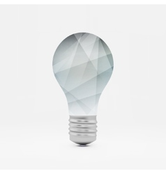 Lightbulb idea symbol 3d Can vector image