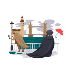 london river embankment vector image