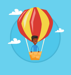 man flying in hot air balloon vector image