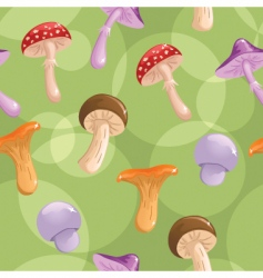 mushrooms seamless vector image