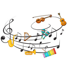 music instrument with music note vector image