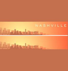 Nashville beautiful skyline scenery banner vector