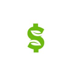 nature money logo icon design vector image