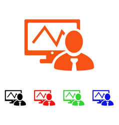 Online trader icon vector