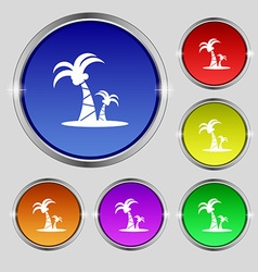 paml icon sign Round symbol on bright colourful vector image