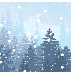 Panorama wild coniferous forest vector
