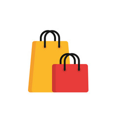 paper bags commerce shopping flat image icon vector image
