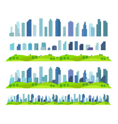 Parallax effect ready city future building vector
