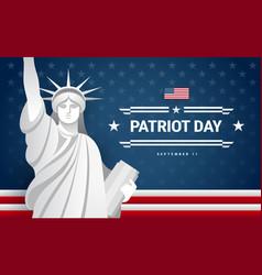 patriot day banner design - usa flag text vector image