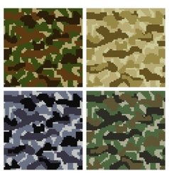 Pixel Camouflage Patterns vector