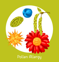Pollen allergy for medical vector