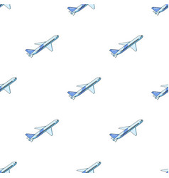postal aircraftmail and postman pattern icon in vector image
